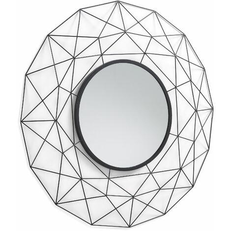 Kave Home - Espejo de pared Tabi negro redondo Ø 90 cm de metal