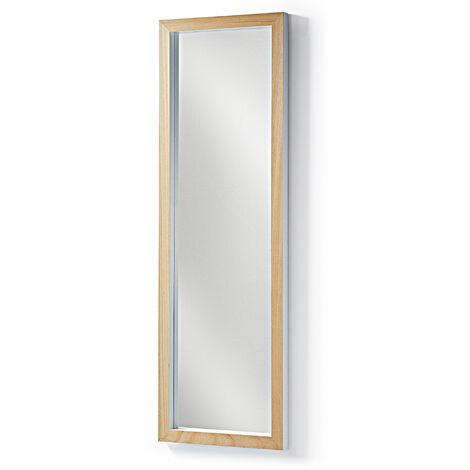 Kave Home - Espejo de pie Enzo blanco rectangular 48 x 148 cm de madera maciza de ayous