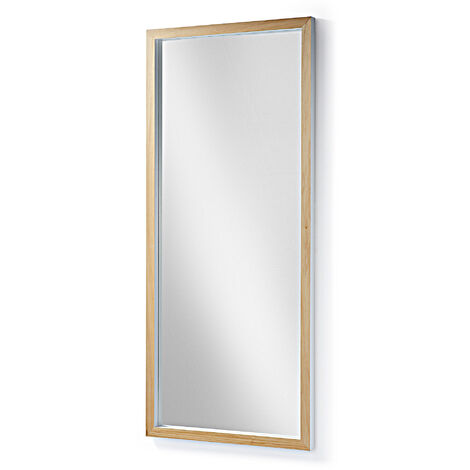 Kave Home - Espejo de pie Enzo blanco rectangular 78 x 178 cm de madera maciza de ayous