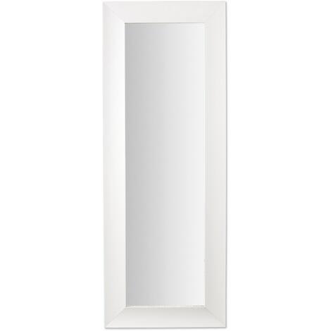 Kave Home - Espejo de pie Misty blanco rectangular 159 x 59 cm con marco de madera