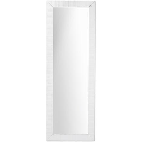 Kave Home - Espejo de pie Seven blanco rectangular 150 x 52 cm de madera maciza de ayous