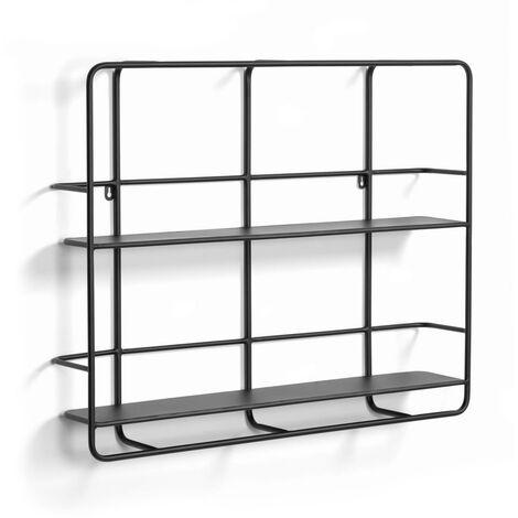 Kave Home - Estantería Najat metal negro 75 x 60 cm