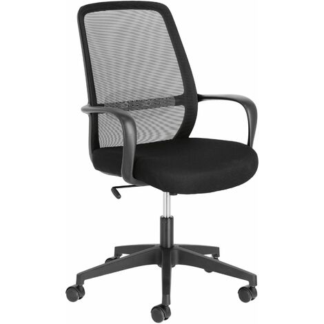 Kave Home - Melva office chair in black - Black