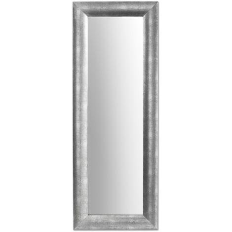 Kave Home - Miroir Misty argenté rectangulaire 159 x 59 cm avec cadre en bois