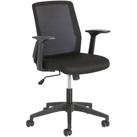 Kave Home - Nasia office chair in black - Black