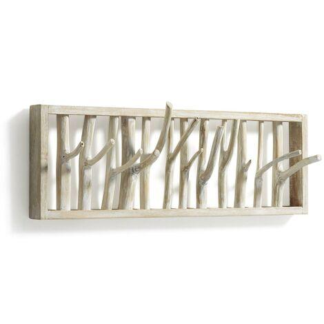 Kave Home - Perchero de pared Muntfre 60 cm de madera maciza de teca