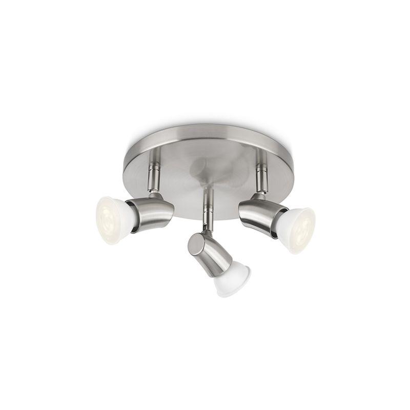 Philips - Kaya - PLAFONIERA spot LED nickel 3 luci