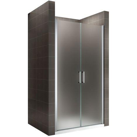 KAYA Porte de douche H 195 largeur réglable 77-80 cm opaque