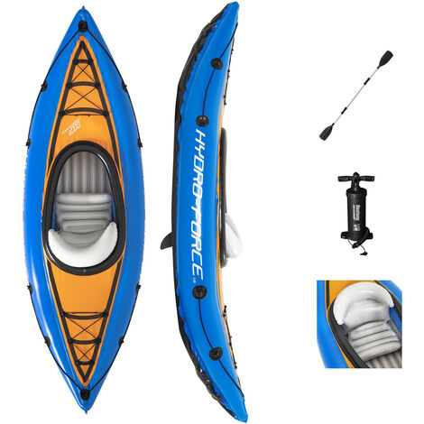 Kayak Gonflable Bestway Hydro-Force Cove Champion 275x81 cm Individuel Pagaie et Pompe
