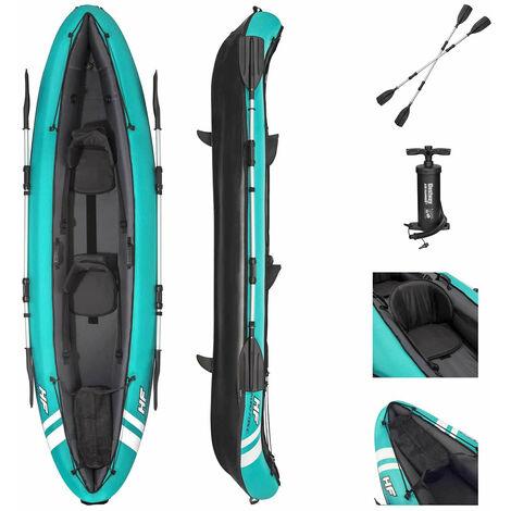 Kayak Gonflable Bestway Hydro-Force Ventura 330x94 cm 2 Personnes Gonfleur 2 Pagaies