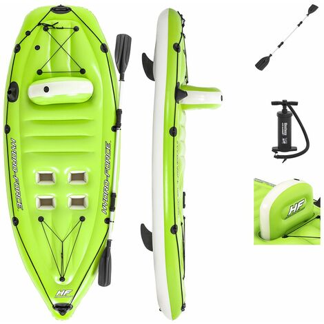 Kayak Gonflable Hydro Force Bestway Individual 270x100 cm avec Pagaie et Pompe de Gonflage
