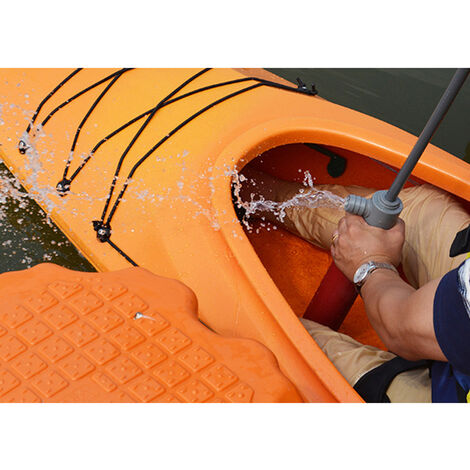Kayak Pompe ¨¤ eau manuelle Accessoires de kayak Accessoires en plastique de pompe de cale de kayak