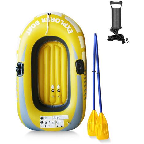 Kayak Portatif De Pvc De Bateau De Peche De Canoe De Bateau Gonflable Epaissi Simple Avec La Pompe