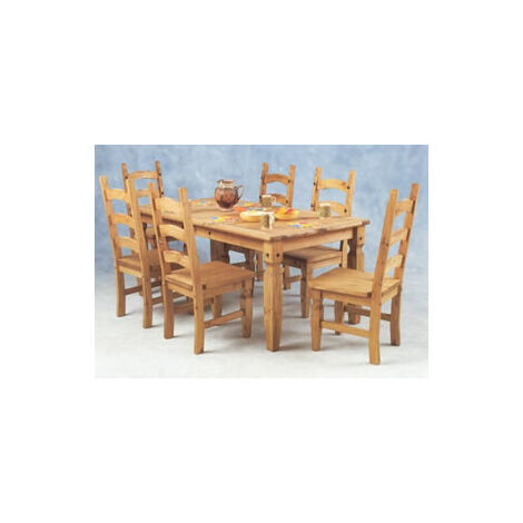 Kayley Pine Dining Table & 6 Chairs