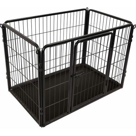FLAMINGO Dog Kennel Kazan S 93x59x64 cm Black