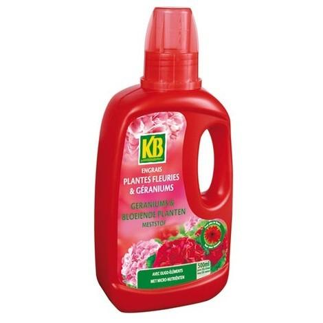 KB - Engrais géraniums et plantes fleuries - 500 mL