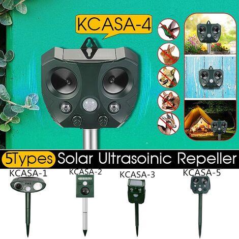 KCASA jardin solaire répulsif animal ultrasonique capteur de mouvement activé forme de hibou étanche antiparasitaire répulsif KCASA-4