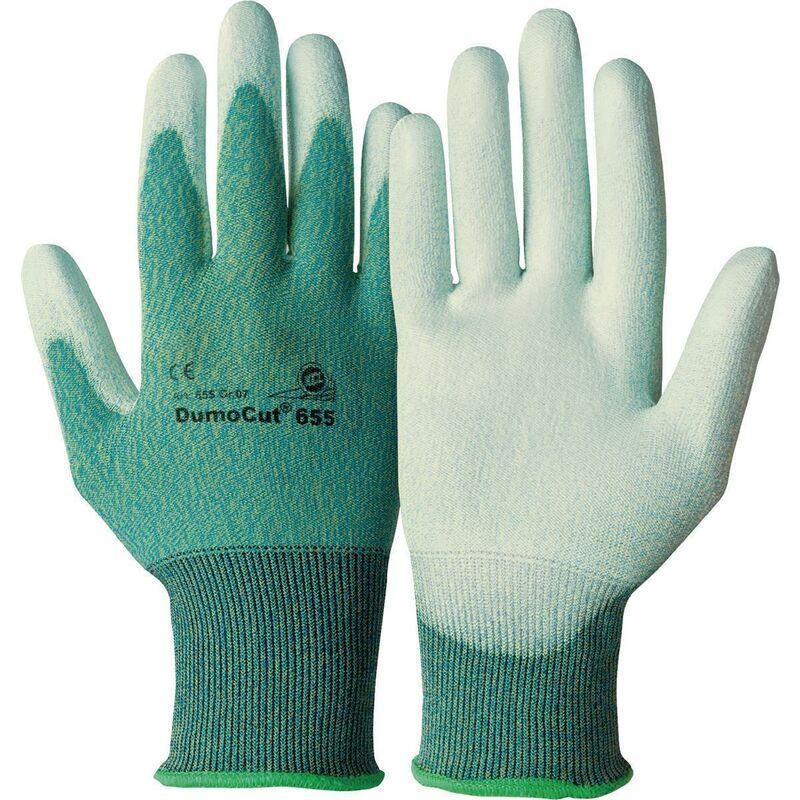 Gant de protection contre les coupures DumoCut 655 Taille 9 vert-bleu / blanc polyamide-fibre de verre-tricot avec pol EN 388 10 Paar