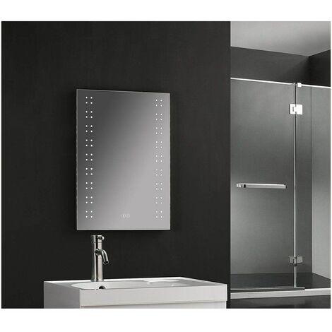 Keenware KBM-002 LED Bathroom Mirror With Wireless Bluetooth Speakers, Demister & Shaver Socket; 700x500mm