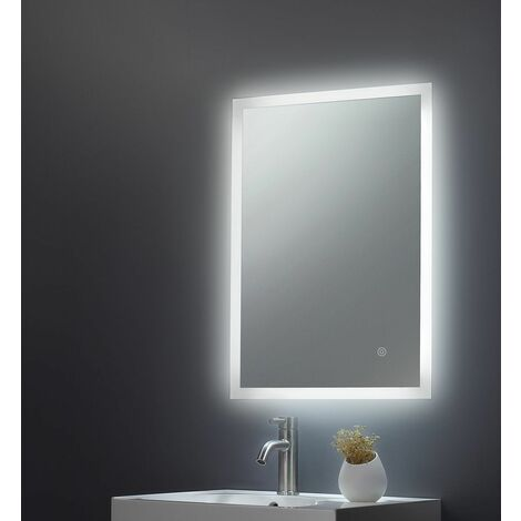 Keenware KBM-010 LED Frosted Edge Backlit Bathroom Mirror With Demister; 700x500mm