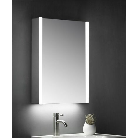Keenware KBM-101 LED Bathroom Mirror Cabinet With Shaver Socket; 700x500mm