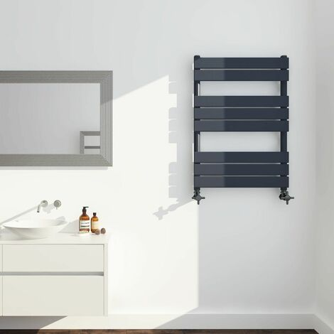 Keenware KTW-005 Anthracite Designer Flat Panel Towel Warmer Radiator: 800x450mm