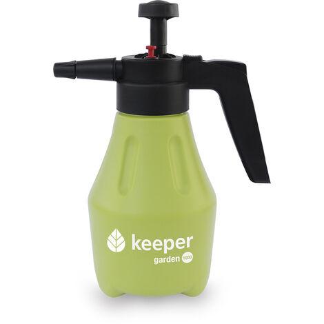 Keeper Pulverizador Bomba a Presión Garden 1000.3 Modos. Uso Doméstico y Jardinería. Deposito Graduado.1L. Pulverizador Presión. Filtro