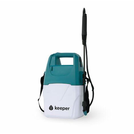 Keeper Pulverizador Eléctrico para jardín Keeper Forest 5. Batería Litio. Recarga Mediante USB. Indicador Luz. Boquilla Regulable. 120min Autonomía.5L