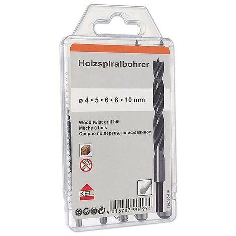 KEIL HSS Metallbohrer Satz 19 teilig 1-10 mm geschliffen