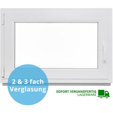 "main image of ""Kellerfenster Kunststoff Fenster Verglast Dreh Kipp alle Größen LAGERWARE 2 & 3"""