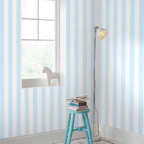 Kelly Hoppen Silver/White Metallic Stripe Wallpaper