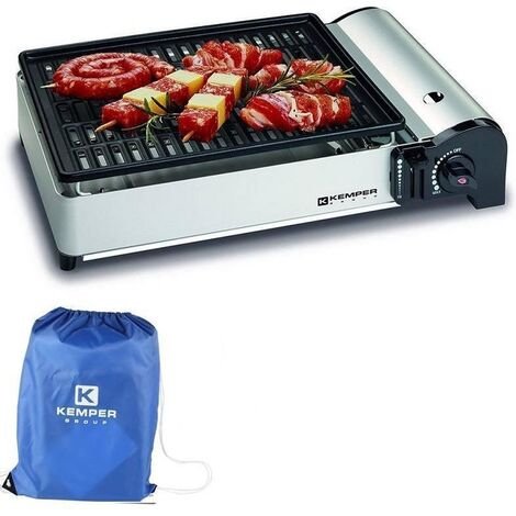 Kemper Barbecue à gaz portable - Barbecue de table - Réchaud de camping