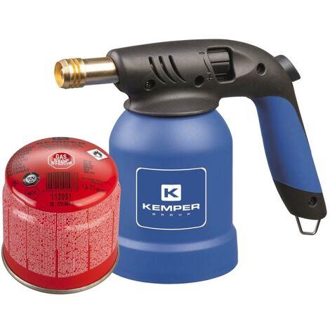 Kemper Brûleur à gaz, allumeur pour barbecue avec allumage piézoélectrique et bidon de gaz