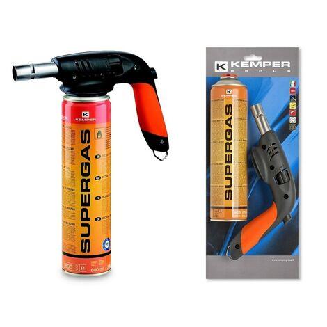 Kemper Brûleur à gaz Torche à souder 820AKIT - 1860 °C - Incluant 1 cartouche Supergas