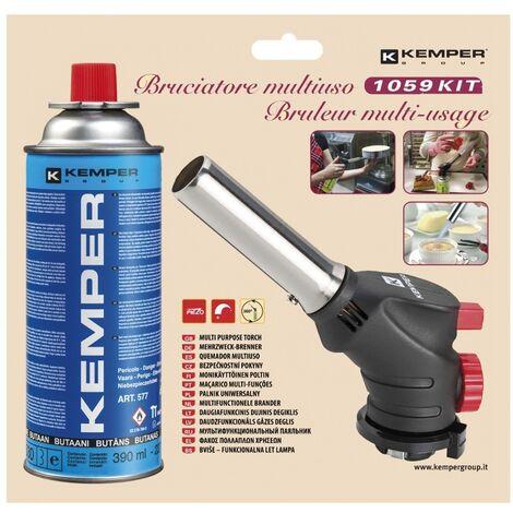 Kemper Brûleur multifonctionnel Crème brûlée - flamme réglable - avec verrouillage de la flamme - max 650 °C