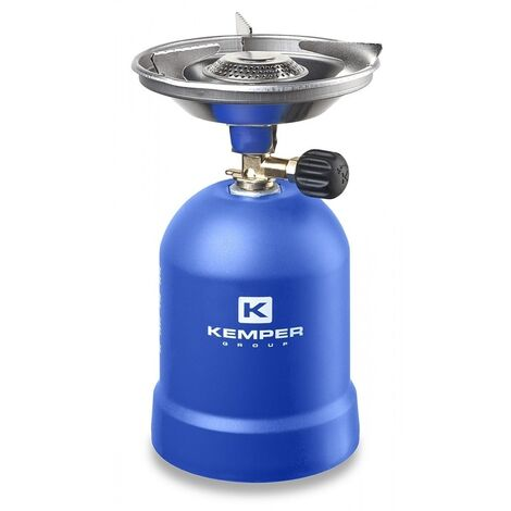 Kemper Cuisinière à gaz avec protection contre le vent 1200 Watt Bleu