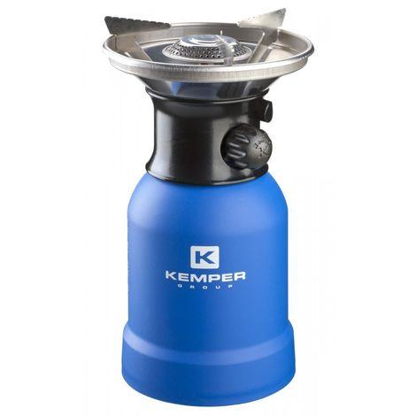 Kemper Cuisinière à gaz avec protection contre le vent et allumage piézoélectrique 1200 Watt Bleu