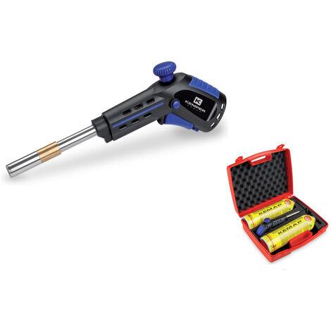 Kemper Fer à souder professionnel Kit de soudure dure en coffret - 2400 °C - avec 2 cartouches de soudure dure et tendre