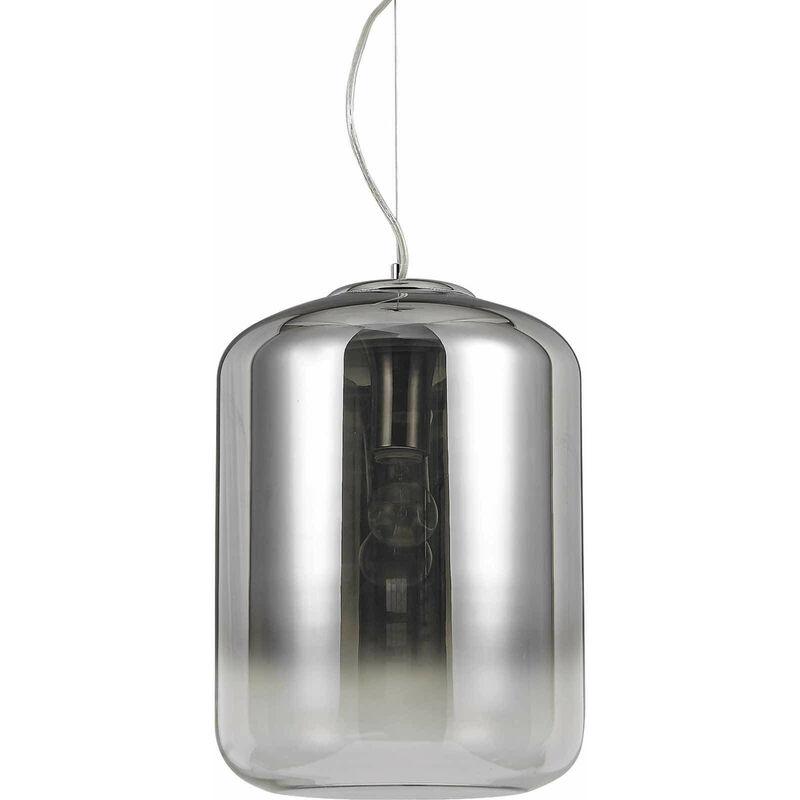 01-ideal Lux - KEN Chrom Pendelleuchte 1 Glasbirne