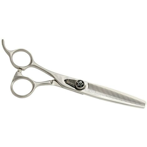 Kenchii Five Star Offset professional toothed scissors for left-handed people 16.5 cm - 46T for grooming dogs and cats