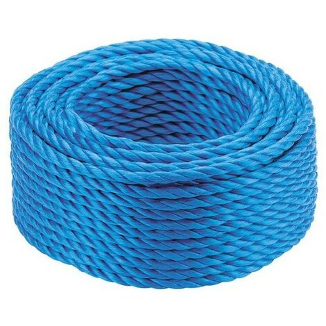 Kendon Rope and Twine ROPE1015 Mini Coil of Blue Poly Rope 10mm x 15 Metre