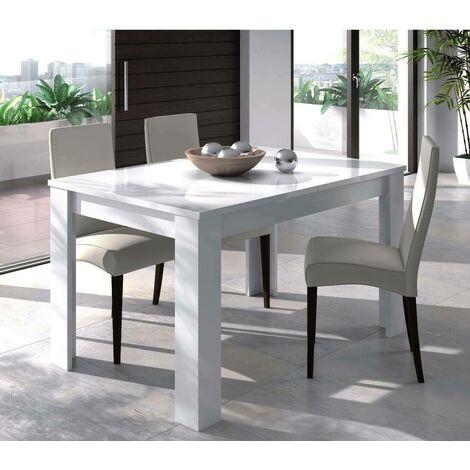 KENDRA Table de séjour extensible blanc