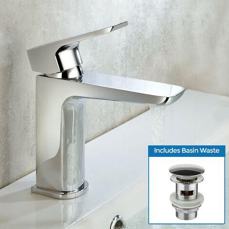 Keninton Bathroom Basin Mono Mixer Tap & Waste