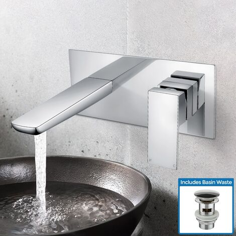 Keninton Wall Mounted Basin Mixer Tap With Basin Waste