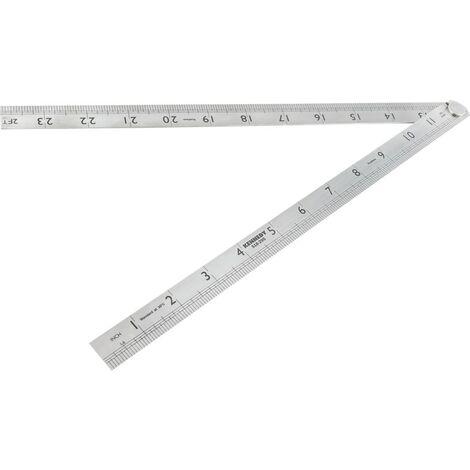 """Kennedy 600mm/24"""" Folding Steel Rule"""