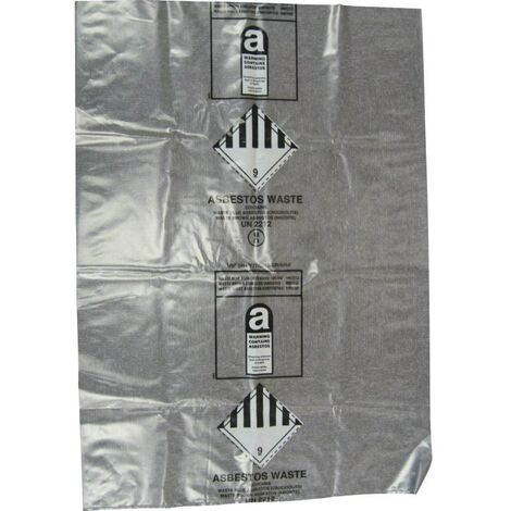 """Kennedy Clear Asbestos Waste Bags 24 X36"""" NA2436A Pkt-100"""