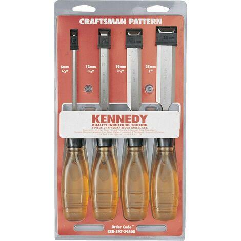 Kennedy Craftsman Bevel Edge Wood Chisels (SET-4)