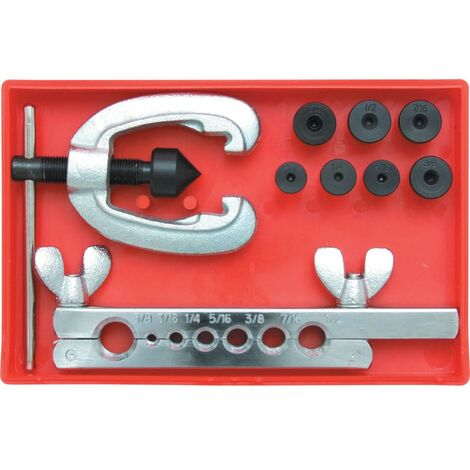 """Kennedy Double Flaring Tool Set 3 /16-5/8"""" 9-PCE"""