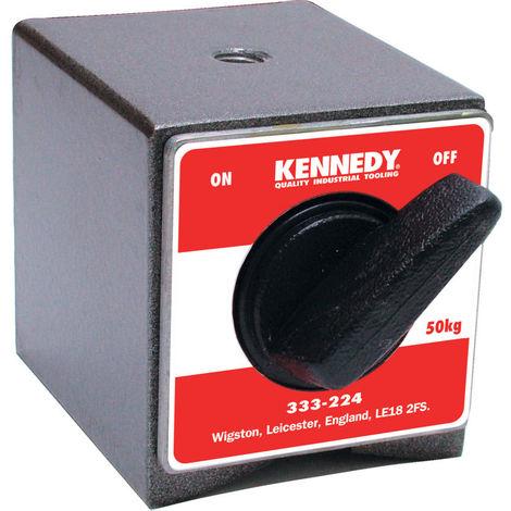 Kennedy Magnetfuß Drehschalter 50 x 55 x 60 mm Haftkraft 50 kg M8 x 1,25mm