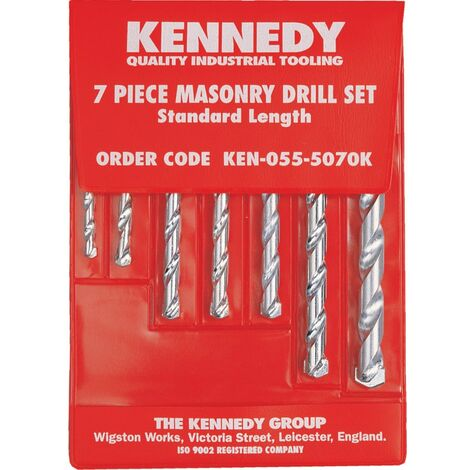 Kennedy No.6-20 7PCE Masonry Drill Set